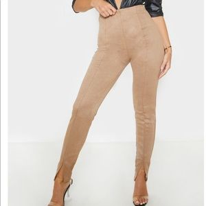 Pretty Little Thing Faux Suede Legging